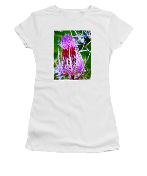 Thistle Women's T-Shirt (Junior Cut) by Judi Bagwell