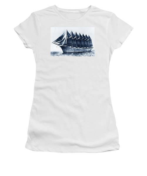 Thomas W. Lawson Seven-masted Schooner 1902 Women's T-Shirt (Athletic Fit)
