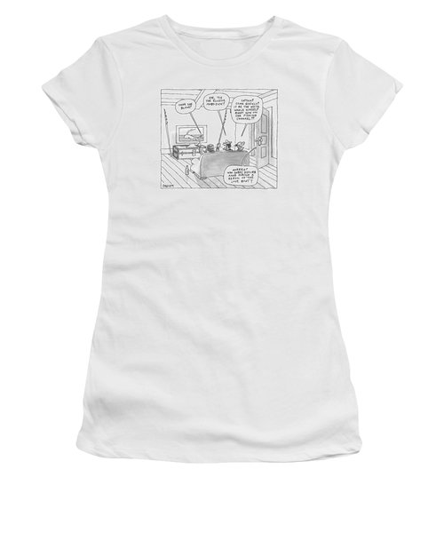Three Characters From Moby Dick Spot The Whale Women's T-Shirt