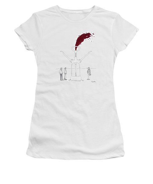 Three Men In Berets Drill Into The Ground Women's T-Shirt