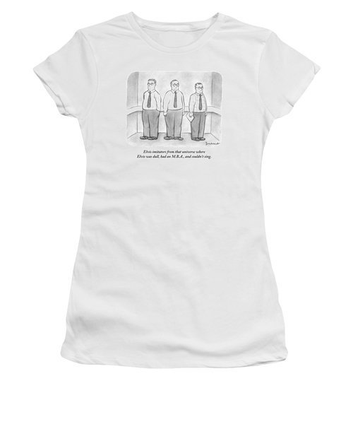 Three Men Similarly Dressed In Business Clothes Women's T-Shirt