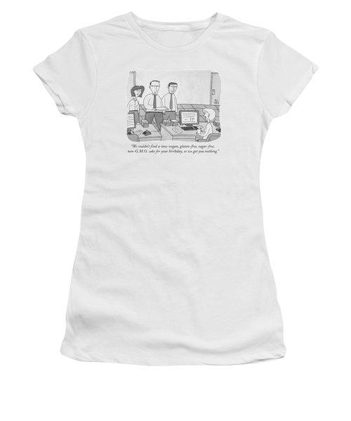 Three Office Workers Women's T-Shirt