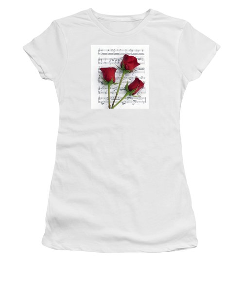 Three Rose Music Women's T-Shirt (Athletic Fit)