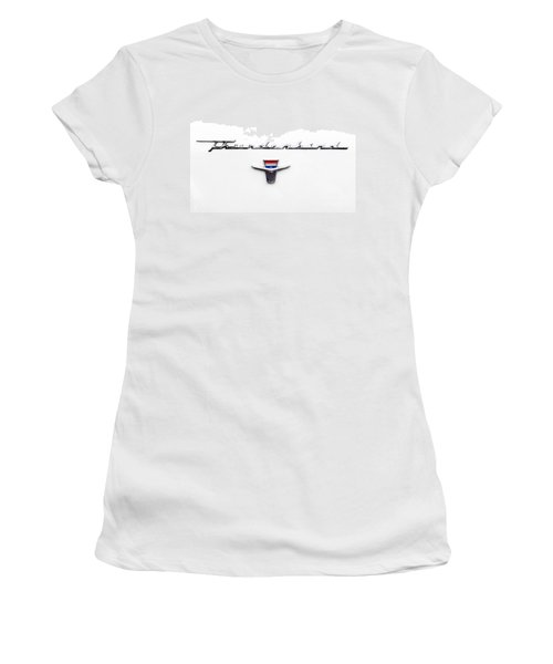 Thunderbird Tag Women's T-Shirt (Junior Cut) by Jerry Fornarotto