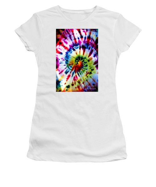 Tie Dyed T-shirt Women's T-Shirt (Athletic Fit)
