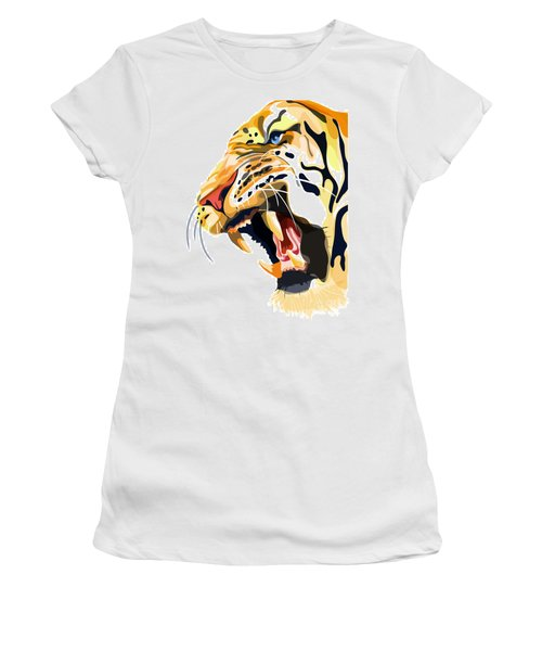 Tiger Roar Women's T-Shirt (Athletic Fit)