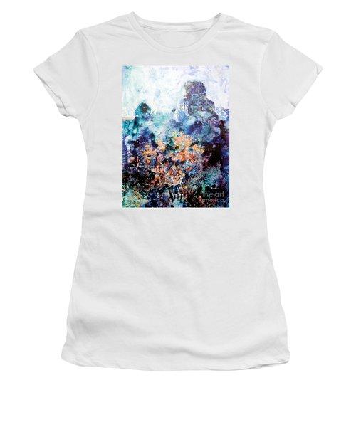 Tikal Ruins Women's T-Shirt (Junior Cut) by Ryan Fox