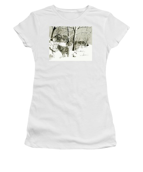 Timber Wolf Pack Women's T-Shirt (Athletic Fit)