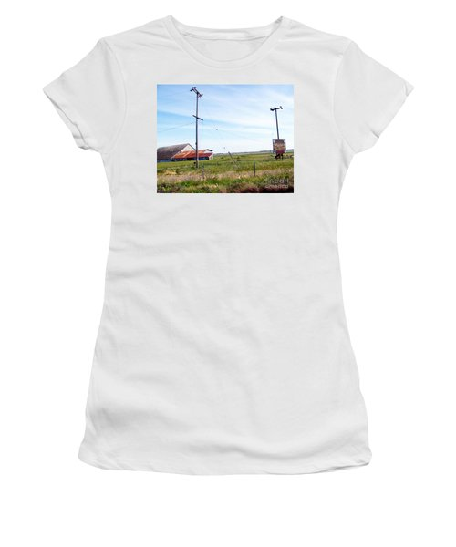 Women's T-Shirt (Junior Cut) featuring the photograph Time Passed By by Bobbee Rickard