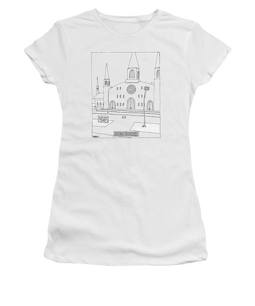 Title: Spec Church. A Billboard Outside A Church Women's T-Shirt