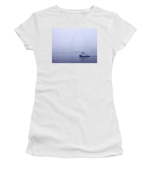 Towboat Working In The Snow St Louis Women's T-Shirt (Athletic Fit)