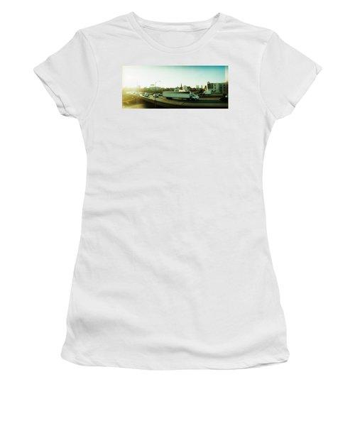 Traffic On An Overpass, Brooklyn-queens Women's T-Shirt