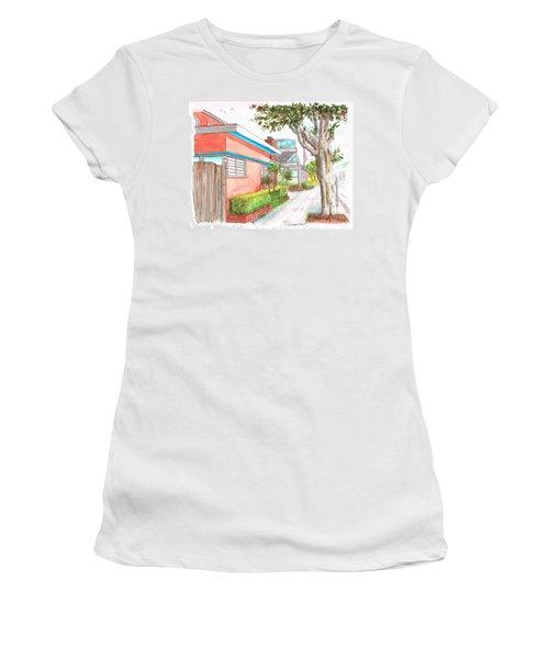 Tree In Laguna Riviera Hotel In Laguna Beach - California Women's T-Shirt (Junior Cut) by Carlos G Groppa