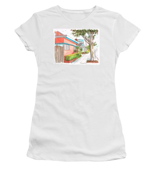 Tree In Laguna Riviera Hotel In Laguna Beach - California Women's T-Shirt (Athletic Fit)