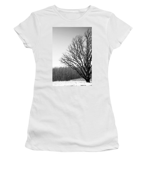 Tree In Winter 2 Women's T-Shirt (Athletic Fit)