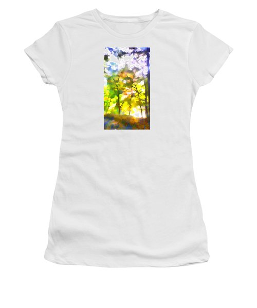 Women's T-Shirt (Junior Cut) featuring the digital art Tree Leaves by Frank Bright
