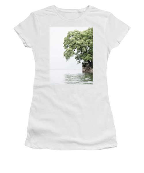 Tree Next To A Lake Women's T-Shirt (Athletic Fit)