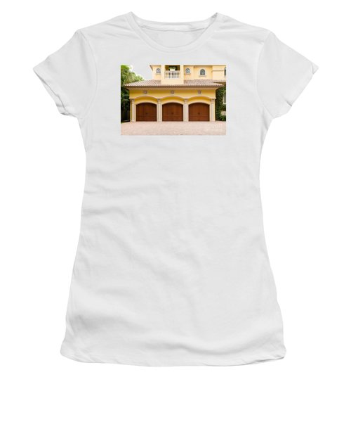 Triple Garage Doors Women's T-Shirt (Athletic Fit)