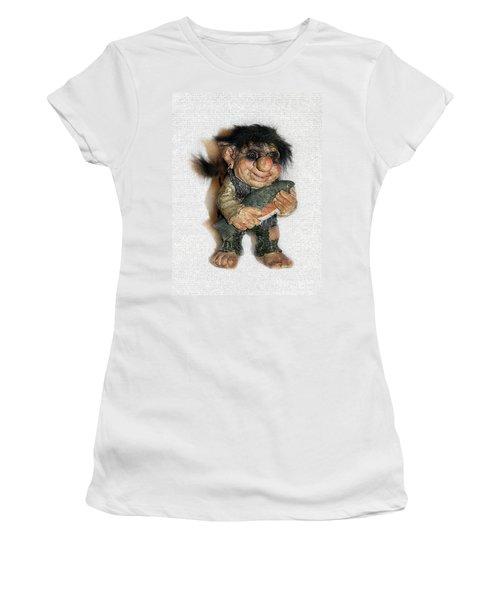 Troll Fisherman Women's T-Shirt (Junior Cut) by Sergey Lukashin
