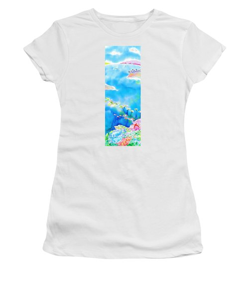 Tropical Fishes Women's T-Shirt (Athletic Fit)