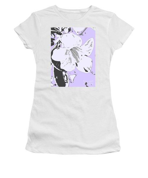 Tropical Floral Violet Black Women's T-Shirt