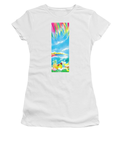 Tropical Fruits Women's T-Shirt (Athletic Fit)