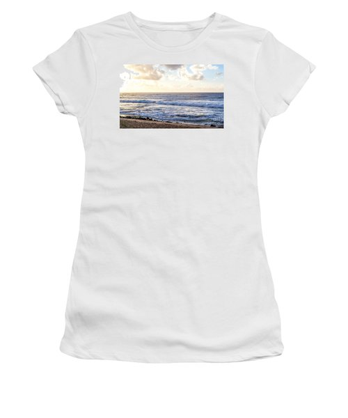 Women's T-Shirt (Junior Cut) featuring the photograph Tropical Morning  by Roselynne Broussard