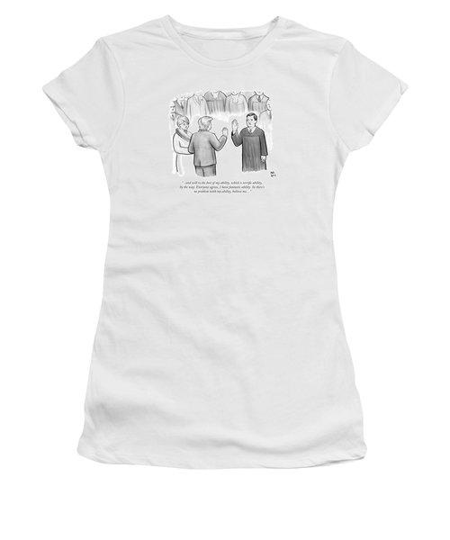 Trump Being Sworn Into Office Women's T-Shirt