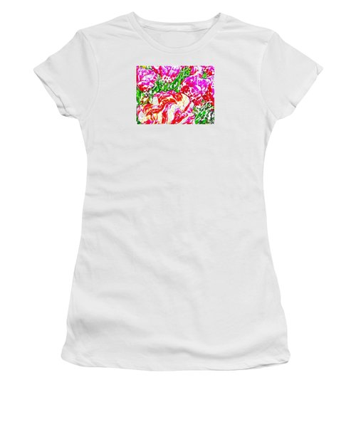 Tulip Infusion Women's T-Shirt (Athletic Fit)