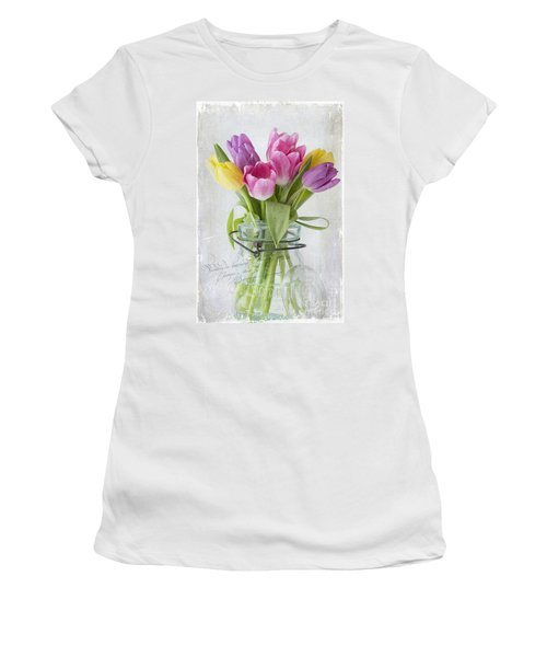 Tulips In A Jar Women's T-Shirt (Athletic Fit)