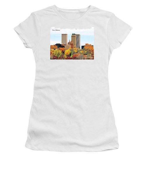 Tulsa Oklahoma In Autumn Women's T-Shirt (Athletic Fit)