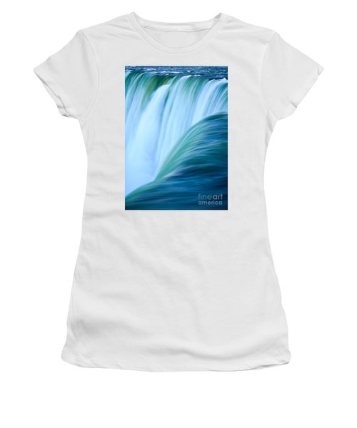 Turquoise Blue Waterfall Women's T-Shirt (Athletic Fit)