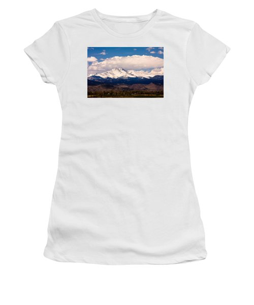 Twin Peaks Snow Covered Women's T-Shirt (Athletic Fit)