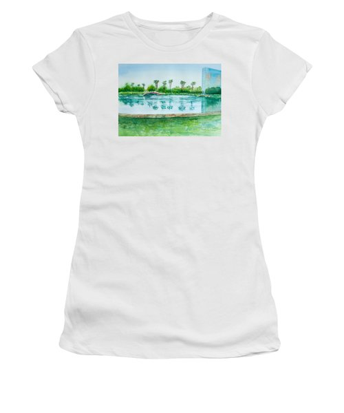 Two Bridges At Rainbow Lagoon Women's T-Shirt