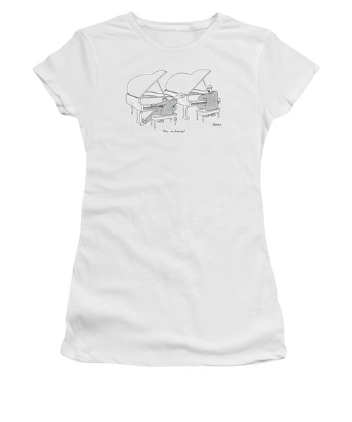 Two Concert Pianists Play Side-by-side Women's T-Shirt