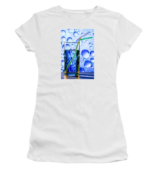 Women's T-Shirt (Junior Cut) featuring the photograph Two In Bubbles by Edgar Laureano