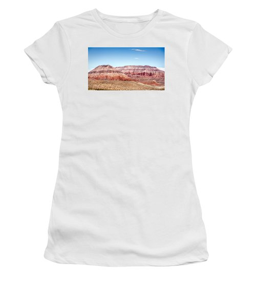 Two Layered Mountains Women's T-Shirt (Athletic Fit)