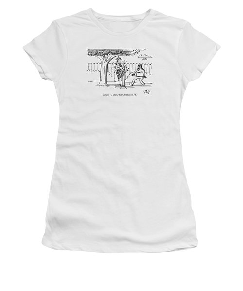 Two Men Are Seen In A Backyard Women's T-Shirt