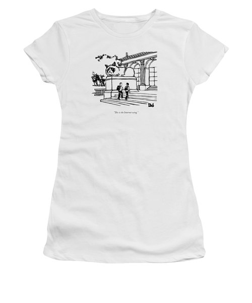 Two Men Walk Into A Library.  There Is An Women's T-Shirt