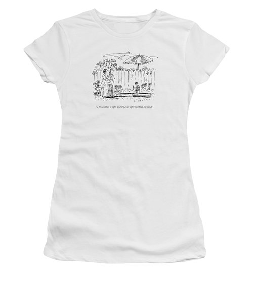 Two Mothers Are Standing In A Backyard Next Women's T-Shirt