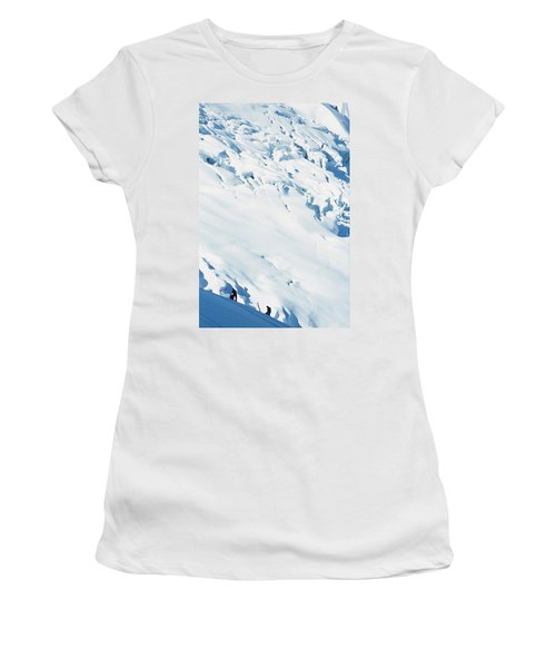 Two Mountaineers High On The Slopes Women's T-Shirt