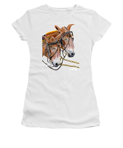 Two Mules - Enhanced Color - Farmer's Friend Women's T-Shirt