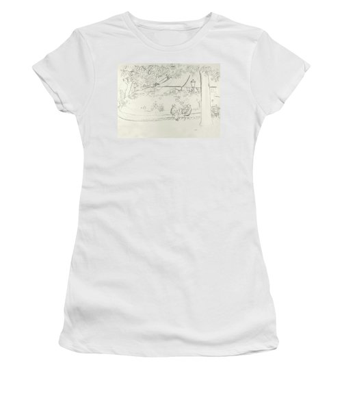 Two People At A Small Park Women's T-Shirt