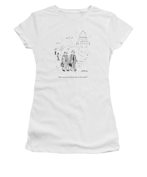 Two Politicians Speak To Each Other. The Capitol Women's T-Shirt