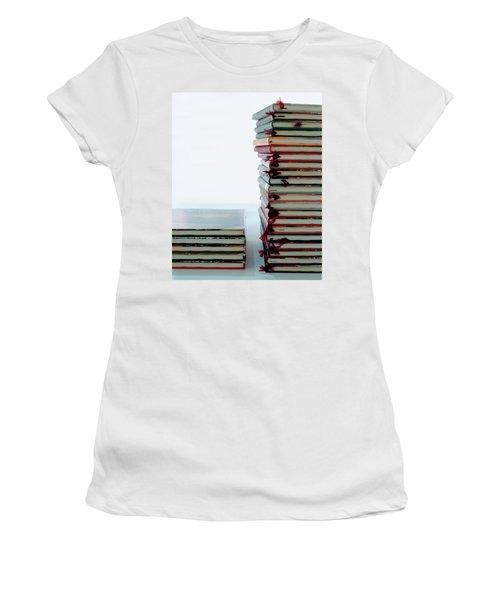 Two Stacks Of Books Women's T-Shirt