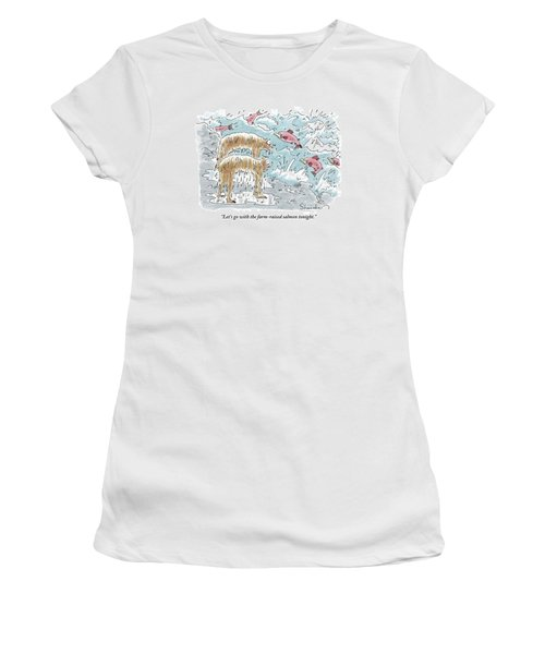 Two Wet Bears Look On In Horror Women's T-Shirt