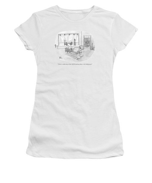 Two Women Chat In A Living Room Women's T-Shirt