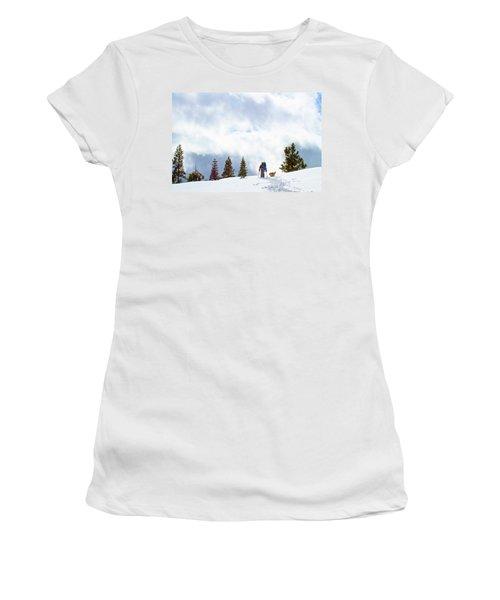 Tyle Brown Kite Skiing In The Tahoe Women's T-Shirt