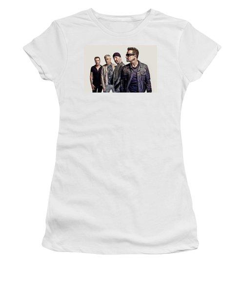 U2 Goup Women's T-Shirt (Athletic Fit)
