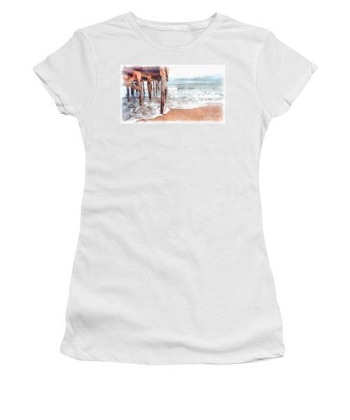 Under The Boardwalk Watercolor Women's T-Shirt